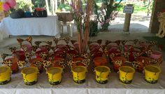 Lion Guard Party ideas - party favour gift buckets