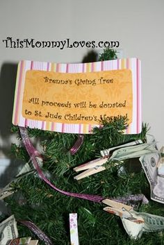 love this idea! last year dd had her friends bring donations for the animal shelter...this would be great too!