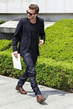 David Beckham Walking fashion