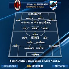 Formazioni ufficiali di #MilanSampdoria