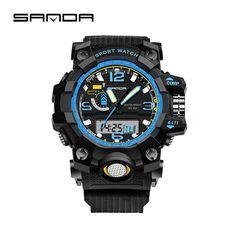 2016 Latest Fashion Digital Wristwatches Men Sport Quartz Watches Luminous Pointer Shockproof Fashion Watch Relogio Masculino