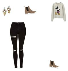 """""""Untitled #240"""" by selise-miles on Polyvore featuring DANNIJO, Uniqlo, Topshop and Barneys New York"""