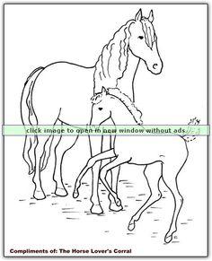 ausmalbilder pferde fohlen | ausmalbilder pferde, ausmalbilder, ausmalbilder pferde zum ausdrucken
