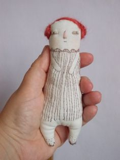 Little Pop handstitched embroidered Art doll ooak by maidolls