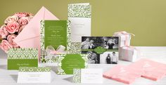 a fun and fresh scheme for a spring wedding – spring green and soft blush pink.