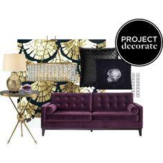 Purple Velvet Tufted Sofa