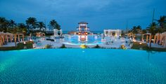 The Main Pool at Night at Sandals Emerald Bay in Great Exuma, Bahamas