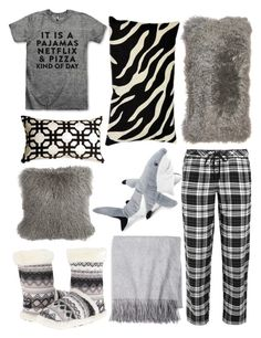 """""""Pajamas #3"""" by unicorn-narwhal ❤ liked on Polyvore featuring M&F Western, DKNY, Sofia Cashmere, Pillow Decor, women's clothing, women, female, woman, misses and juniors"""