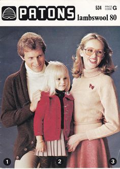 Patons Knitting Pattern No 534 for Family   by jennylouvintage