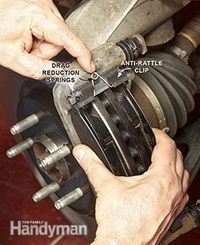How to Change Brake Pads - Automotive Job - Ideas of Automotive Job - Slide the brake pads on then the drag reduction springs and the caliper. How to Change Front Brake Pads: www. Truck Repair, Brake Repair, Engine Repair, Vehicle Repair, Brakes And Rotors, Brake Pad Replacement, Car Fix, Car Hacks, Buggy