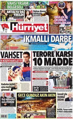 #20160206 #TürkiyeHABER #HürriyetGazetesi Cumartesi  6 Şubat 2016 http://en.kiosko.net/tr/2016-02-06/np/hurriyet.html