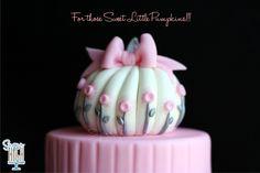 Sweet Little Pumpkin Cake Topper