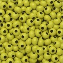 Colored Metal Seed Beads, Round 8/0 Size, 25 Grams, Yellow