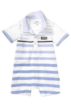 1149fd536 Baby body playsuit 'J94108' in a cotton blend , White Baby Boy Jumpsuit,. Baby  Boy JumpsuitBoss ...