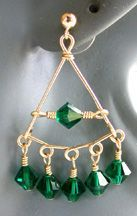 Ideas for making your own chandelier earrings, without findings