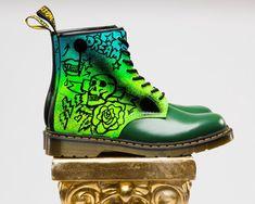 "Jeantrix - Custom Dr. Marten ""Rebels"" Boot, (http://jeantrix.mybigcommerce.com/custom-dr-marten-rebels-boot/). Love the colors, love the artwork."