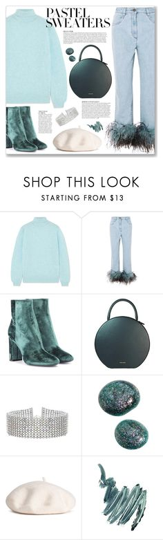 """So Sweet: Pastel Sweaters"" by myduza-and-koteczka ❤ liked on Polyvore featuring Khaite, Prada, Yves Saint Laurent, Anja, Mansur Gavriel, Steve Madden and Napoleon Perdis"