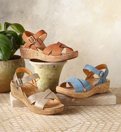 Myrna 2.0 Sandals By Kork-Ease - The comfort and style you love from Kork-Ease® in their classic leather sandals, updated with slimmer lines and feminine curves.