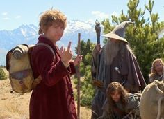 The scenic shot. | The 21 Most Glorious Photos Of Bilbo Baggins Giving The Finger