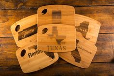 Bamboo State Cutting Boards on BourbonandBoots.com