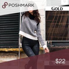 Best plaid foil print High Waist fleece leggings Gold plaid texture fleece lined leggings osfm nwt Vivacouture Pants Leggings