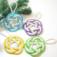 Sailor Knot Christmas Ornament Tropical Colors