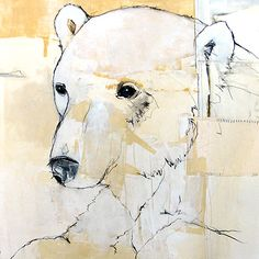 Animals, polar bear art, my son would love it..and me too!