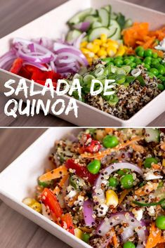 Receita de Salada de Quinoa - Receita leve e prática para o dia a dia. 15 Min Meals, Easy Meals, Easy Cooking, Cooking Recipes, Clean Eating Snacks, Healthy Eating, Apple Salad Recipes, Vegetarian Recipes, Healthy Recipes