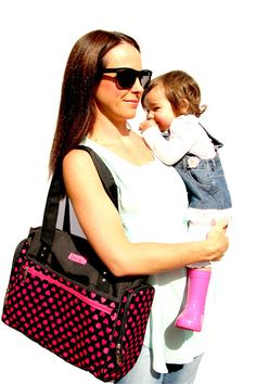 This popular nappy bag has definitely been designed with Mum in mind with a pocket for everything and includes a bonus wipe case and matching change mat. www.babybuydirect.com.au