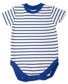 6,99 € !! Body Baby Jungen Mädchen blau-weiß gestreift kurzarm 50-80 NEU Baumwolle NEXT