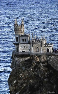 Beautiful castle on a rock. I could just as easily categorize this under dream homes, or dream vacations!