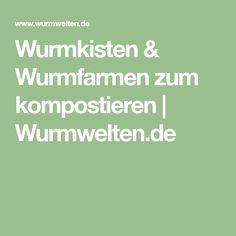 Wurmkisten & Wurmfarmen zum kompostieren | Wurmwelten.de
