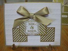 One Sheet Wonder Technique; Gold Soiree Specialty Designer Series Paper; Gold Foil Sheets; Gold Satin Ribbon;Label Love Stamp Set;