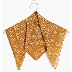 MADEWELL Bandana (17 CAD) ❤ liked on Polyvore featuring accessories, scarves, egyptian gold, tie scarves, madewell, bandana scarves, wrap shawl and madewell scarves