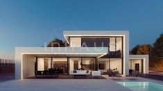 love the modern square look of this design Modern House Facades, Modern Architecture House, Modern House Plans, Architecture Design, Modern Villa Design, Casas Containers, House Plans Mansion, Dream House Exterior, Facade House