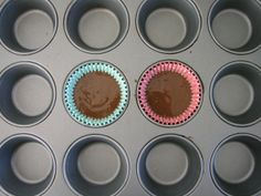 Recipe for exactly 2 chocolate cupcakes :)