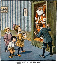 Vintage Santa's wardrobe. 'Now will you believe me?' #santa #christmas #vintage