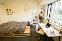 Some inspiration for your room! #WURlife @Wageningen University #pallets #bed #DIY