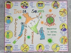 This video is showing you how to make corona virus poster for corona warriors. Earth Drawings, Art Drawings For Kids, Drawing For Kids, Cartoon Drawings, Poster Color Painting, Stencil Painting, Save Water Poster Drawing, Save Earth Drawing, Front Page Design