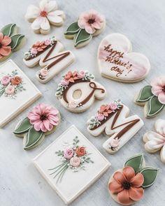 Mother's Day Cookies, Fancy Cookies, Iced Cookies, Cute Cookies, Birthday Cookies, Cupcake Cookies, Elegant Cookies, Meringue Cookies, Cookie Icing