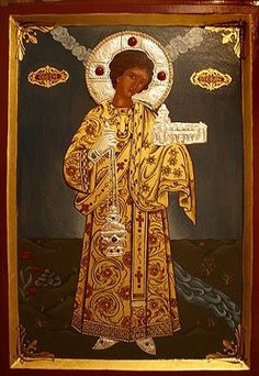 ST. STEPHEN THE FIRST MARTYR Saint Stephen, Orthodox Christianity, Religious Art, Saints, Artwork, Blog, Icons, Painting, Beautiful