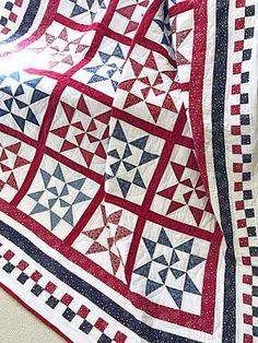 d5f80794b9ac Patriotic Quilt Pattern PDF Star Quilt Pattern Stars and Blue Quilts