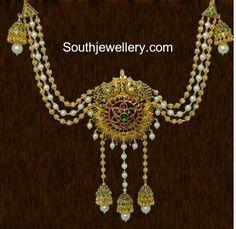 3 in 1 Antique Jewellery - Indian Jewellery Designs Diamond Earrings Indian, Indian Jewelry Earrings, Indian Jewelry Sets, Indian Jewellery Design, Jewelry Design Earrings, Gold Jewelry, Jewellery Designs, Jewellery Photo, Hair Jewelry