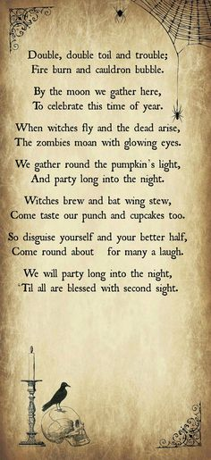 Print Your Own Halloween Party Invitations with our Free Template - Includes an original Halloween Poem