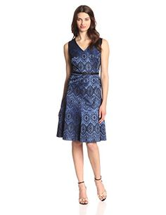 Cute transitional dress for spring. Jones New York Women's Fit and Flare Lace Dress with Belt, Blue/Black, 8 Jones New York http://www.amazon.com/dp/B00MVRISWW/ref=cm_sw_r_pi_dp_yr42ub0A39MBW