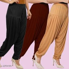Ethnic Bottomwear - Patiala Pants Fabulous Viscose Women's Patiala Pants Combo Fabric: Viscose Waist Size : XL - Up To 24 in To Up To 32 in XXL - Up To 26 in To Up To 34 in Length: Up To 40 in Type: Stitched Description: It Has 3 Pieces Of Women's Patiala Pants Pattern: Solid Country of Origin: India Sizes Available: XL, XXL   Catalog Rating: ★4.1 (838)  Catalog Name: Kamal Fabulous Viscose Women's Patiala Pants Combo Vol 1 CatalogID_373404 C74-SC1018 Code: 974-2754189-4221