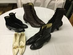 Found on EstateSales.NET: ladies high top shoes and pair of kid low pumps
