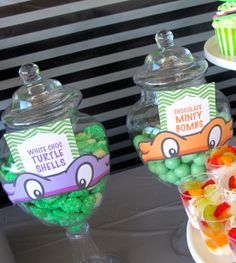 Teenage Mutant Ninja Turtle TMNT Dessert and Candy Buffet. Styling and design by Sweet Bits and Pieces www.sweetbitsandpieces.com.au