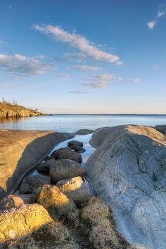 Calm Baltic Sea seen from Helsinki.