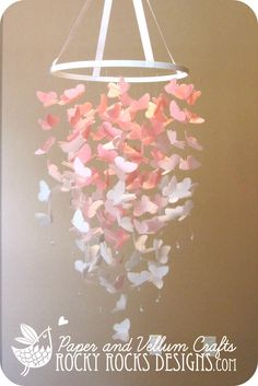 PICK 2 COLORS - OMBRE - Large Vellum Butterfly Mobile by RockyRocksDesigns on Etsy https://www.etsy.com/listing/155681025/pick-2-colors-ombre-large-vellum